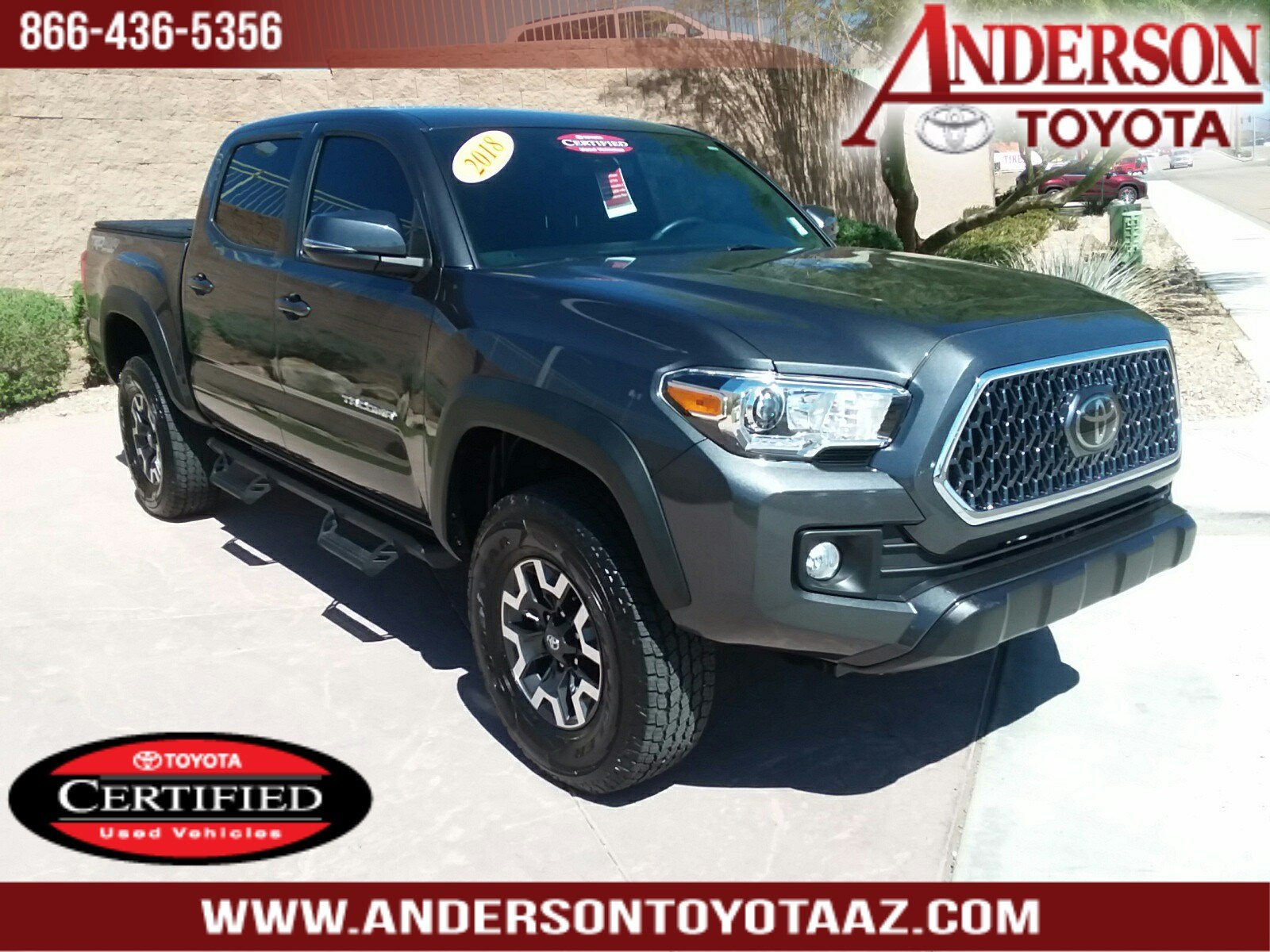 Toyota Certified Pre Owned >> Certified Pre Owned 2018 Toyota Tacoma Trd Offroad 4d Double Cab In